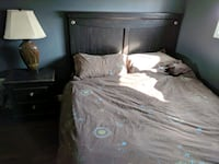Queen Bed Frame, Dresser with Mirror and Nightstan Calgary, T2V 0N3