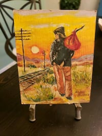 small original painting with metal easel Woodstock, N4T 1V8