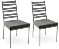BNIB - AMISCO Stage Dining Chairs - PAIR - Grey Mississauga