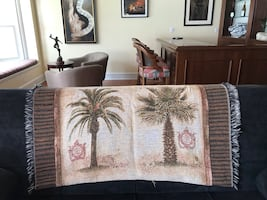 Decorative blanket With palm tree design