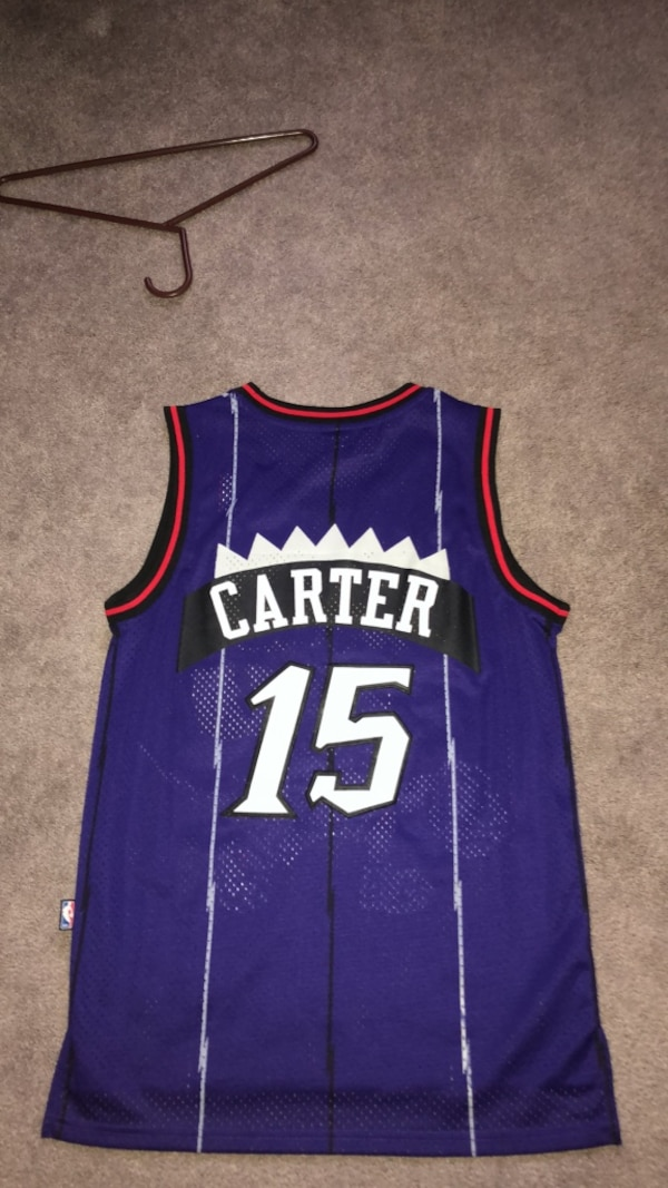 more photos e97af e4bf9 Purple and red throwback Vince Carter jersey