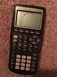 Used Black Texas Istrument Ti 38 Plus Graphing Calculator For In Kennewick