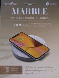 Wireless phone charger (marble)