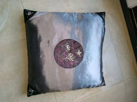 Satin Grey Pillow