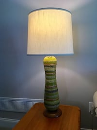 Mid-Century ceramic lamp with teak base Bethlehem, 18017