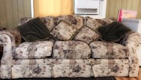 white and gray floral fabric 3-seat sofa ريتشلاند, 99354