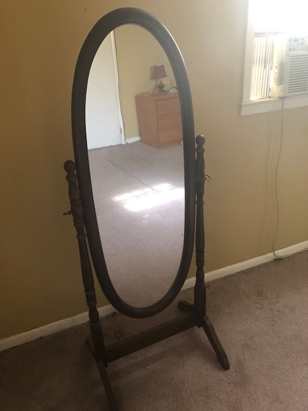 Sold Full Size Stand Up Mirror In