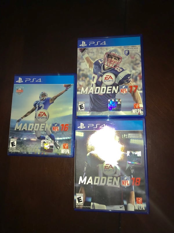Madden PS4 Bundle (16,17, and 18) cd3ea377-b313-47e7-acd7-2f4070a36496
