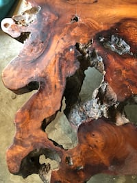 Unique coffee table made from tree trunk Toronto, M6K 2G8