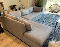 """Like - new, 2 month old - West Elm """"Shelter"""" couch"""