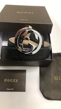 black Gucci leather belt with box Ottawa, K4A