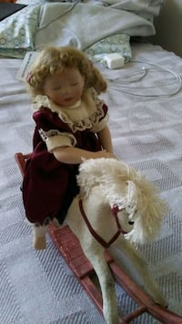 Porcelain Doll w Wood horse Albuquerque, 87102
