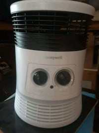 white and black Honeywell portable air cooler 37 km