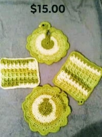 yellow and white knitted textile Yuma, 85364