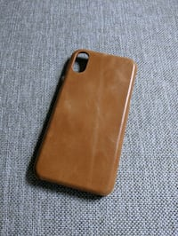 Saddle Brown Tan Leather Case iPhone XS  Alexandria, 22314