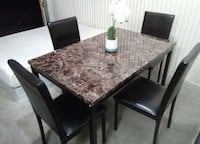 BRAND NEW Beautiful Dining Table & Chairs Faux Top-We Offer FREE DELIVERY! El Paso, 79936