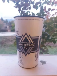 Signed Vancouver Whitecaps cup