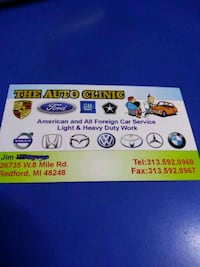 Auto repair Redford Charter Township