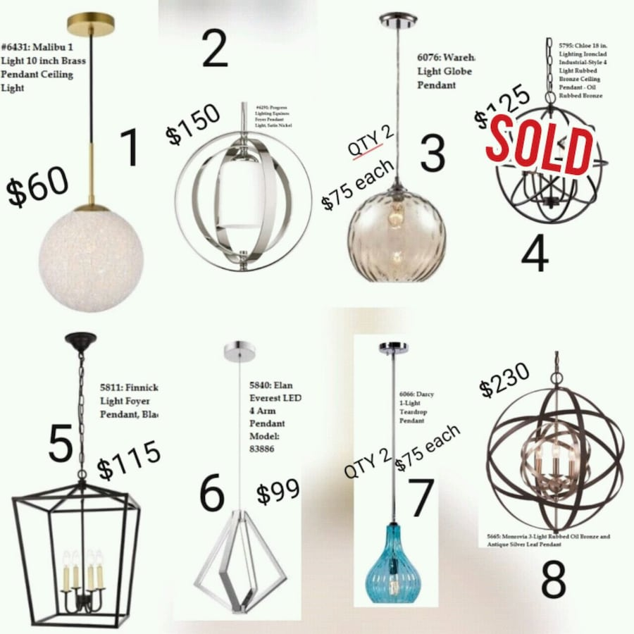 Pendant Light - Delivery