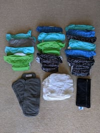 Cloth Diapers (14 bum genius AIO) and Flannel Wipes Arlington, 22204