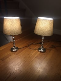 Two stainless steel table lamps with lampshades Rockville, 20852