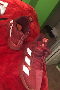 Basket ball shoes red