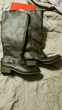 pair of brown leather boots Ney, 43549