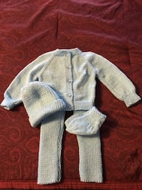 Toddler's white and blue knitted sweater Whitchurch-Stouffville, L4A 0S2