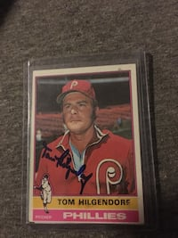 Tom Hilgendorf singed card Willow Grove, 19090