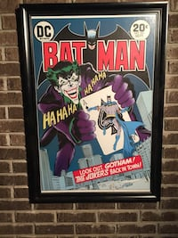 Batman with Joker poster with frame