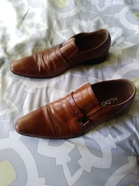pair of brown leather dress shoes Bowie, MD, USA