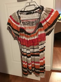 red, white, and black stripe scoop neck dress Québec, G2L 1G8