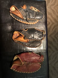 Antique leather baseball gloves from 30's & 40's Burnaby, V5G 3X4