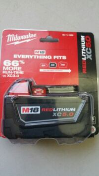 Milwaukee new Battery 5.0 XC Red Lithium 18M Los Angeles, 91343