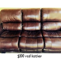 Leather couch  Dallas, 75228