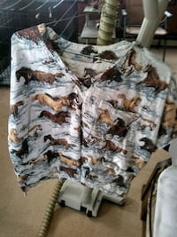 brown and gray camouflage button-up shirt Monson, 04464