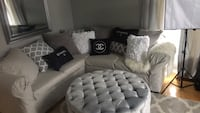Sofa only real color is brown like new its cover with grey tapestry  558 km