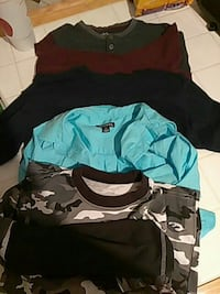 several assorted color shirts