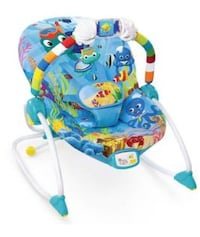 Baby's blue green and white bouncer Moreno Valley, 92553