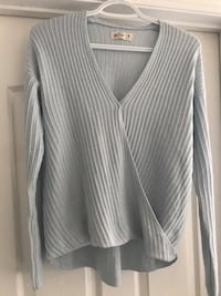 Hollister Baby blue sweater medium Edmonton, T6R 2J5