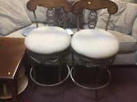 two white and one black leather padded chairs Waldorf, 20601