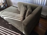 Sage crate & barrel chaise lounge