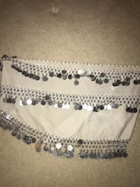 White Velvet belly dancing belt - price not negotiable - pick up only Germantown, 20874