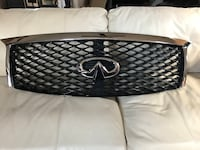 INFINITI QX80  Front Upper Grille w/Chrome Camera Emblem OEM Yrs-15,16 & 17 MPN:62310-5ZAOA Perry Hall, 21128
