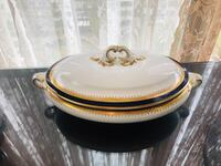Booths England cobalt blue oval tureen