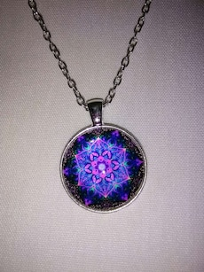 Black and purple pendant