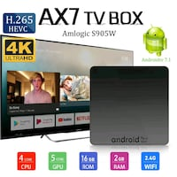 AX7 Android TV TOP BOX 556 km