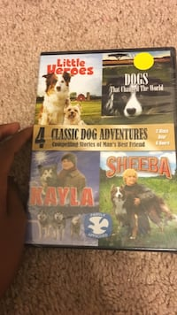 4 Classic Dog Adventures DVD movie case Houston, 77016