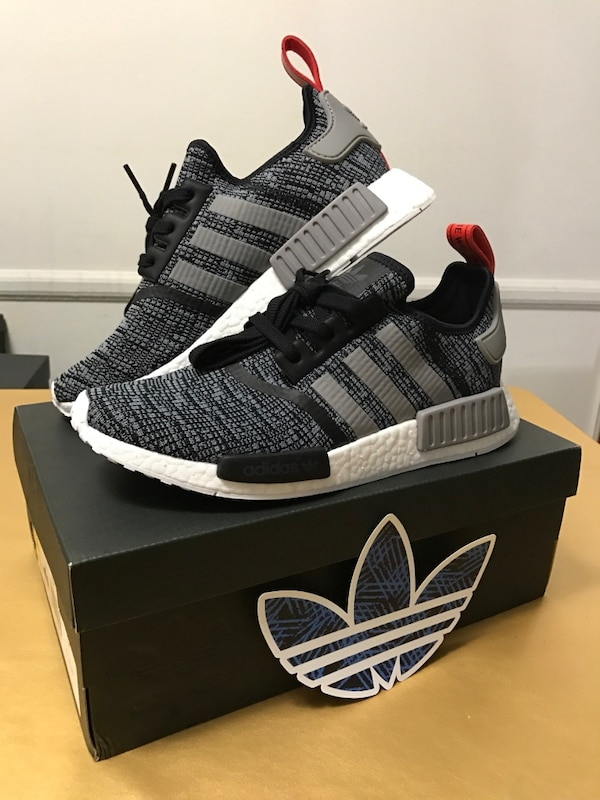 6988178c3 Used NMD R1 Glitch Adidas Black Grey Mens Size  US 9.5 and 10 for ...