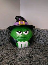 Green M & M Halloween Witch's Costume Ceramic Cand Gaithersburg, 20886
